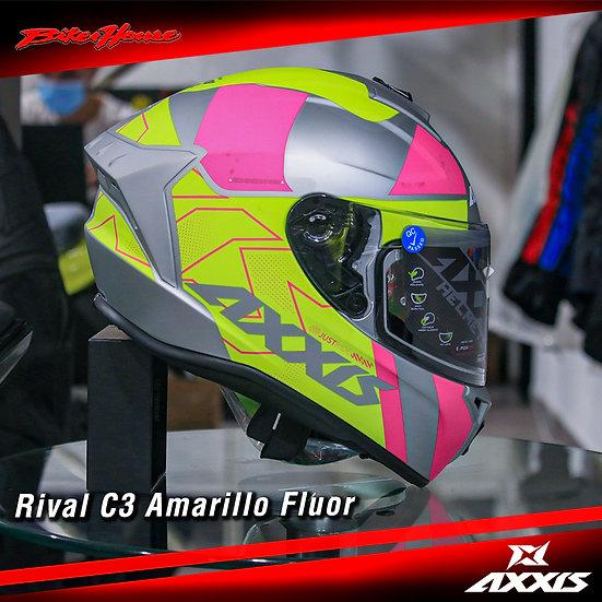 Casco Axxis C3 Amarillo Fluor