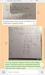 Maths tutor - WhatsApp support
