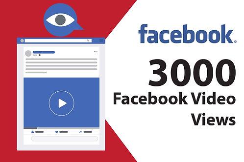 Proporcione 3,000 Reproducciones para Videos en Facebook