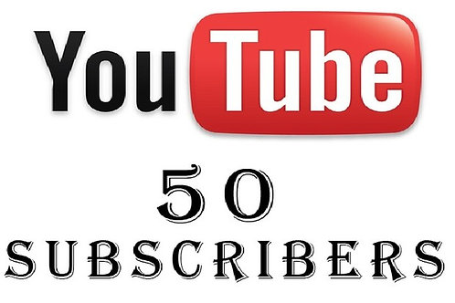 Provide 50 YouTube Subscribers