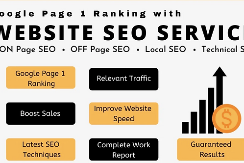 I will provide google SEO service for top page ranking and website optimization