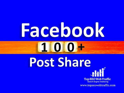 Get 100 Facebook Post Share