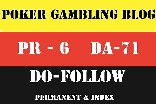 Publish Guest Post on DA 71 Poker, Casino and Gambling Blog