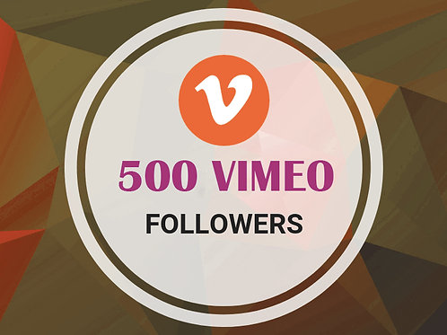 Get 500 Vimeo Followers