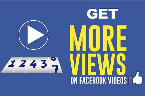 I will Provide 18,000+ Facebook Video Views