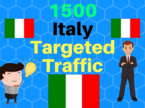 We will provide 1,500 Italy web traffic for 3 days.