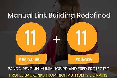 Provide 11 High PR9+ 11 High DA EDU-GOV Backlinks