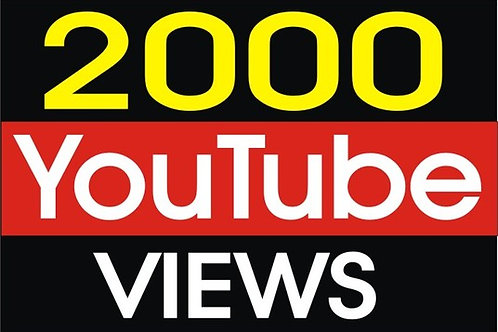 I Will Provide 2,000 High Quality YouTube Views