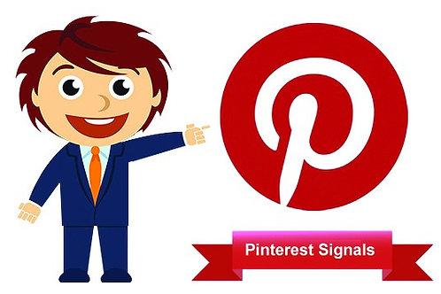 5,500 Pinterest Social Signals