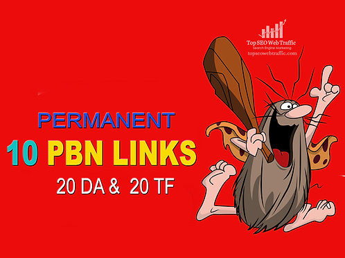 I will create manual 10 PBN links DA 20 and 20 TF