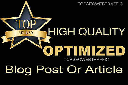 Write a high quality SEO article or blog post