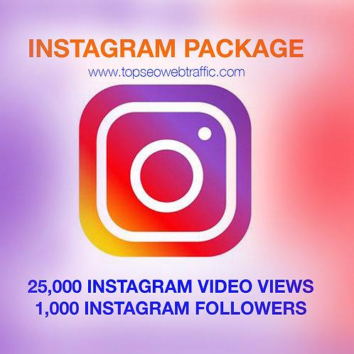 25,000 Instagram Views & 1,000 Followers