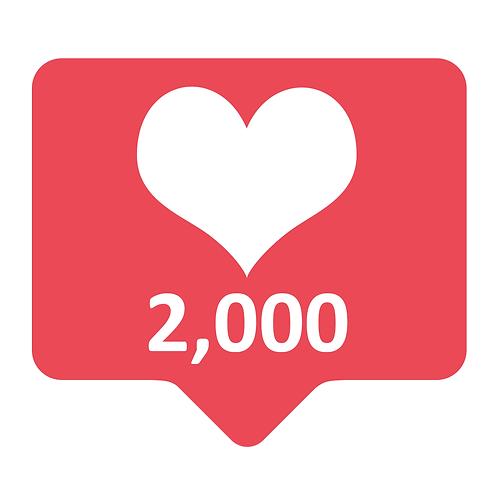 Get 2,000 Instagram Likes