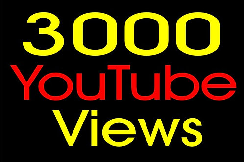 Get 3,000 YouTube views