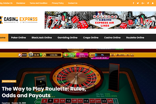 1 Guest Post On Casino / Gambling / Poker / Betting DA 41 And DR