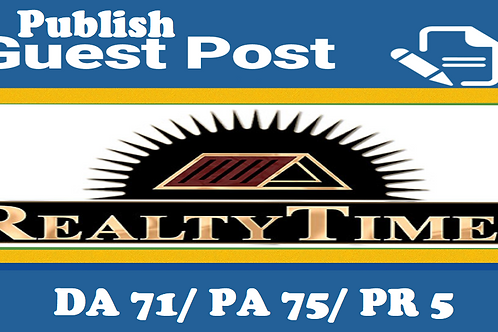 Write and Publish Guest Post at Realtytimes.com DA70