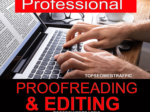 Professionally proofread and edit your writing