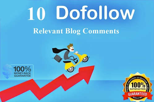 I will make 10 relevant blog comment for your blog