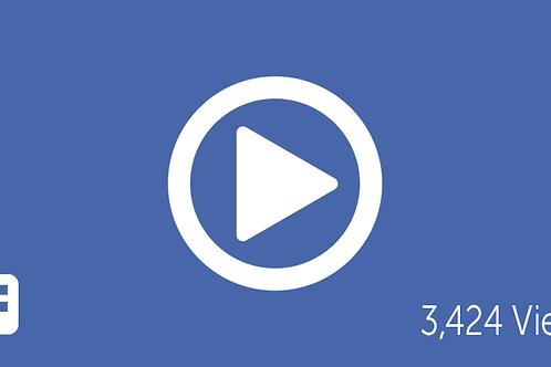 Proporcione 6,000 Reproducciones para Videos en Facebook