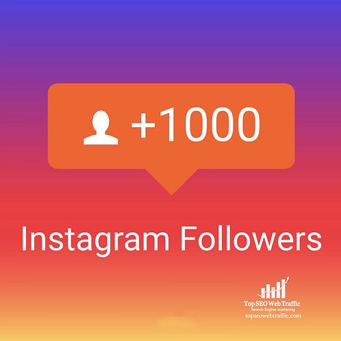 1,000 High Quality Instagram Followers