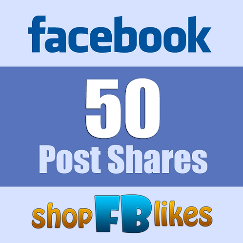 I Will Provide 50 Facebook Post Share