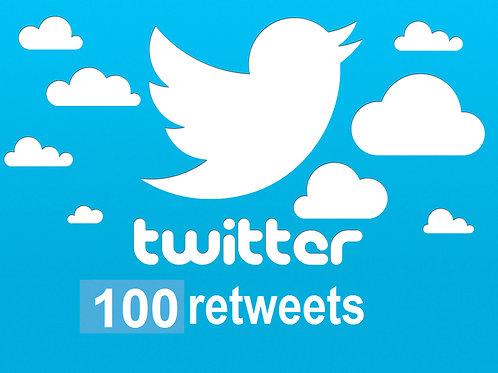 Get 100 Twitter Retweets
