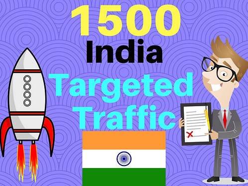 Get 1500 INDIA web targeted traffic