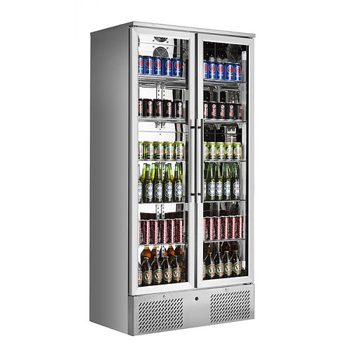 Froster Double Stainless Steel Glass Doors Display