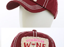 Wine is Necessary Distressed Hat