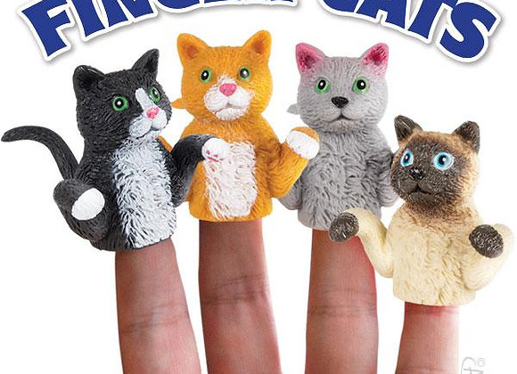 Finger Cats - Finger Puppets (set of 4)