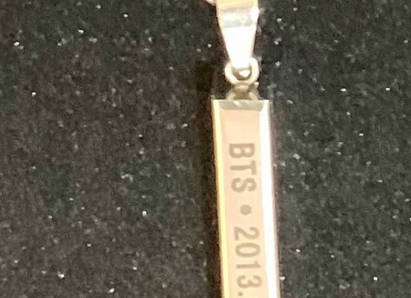 BTS Metal Bar Necklace