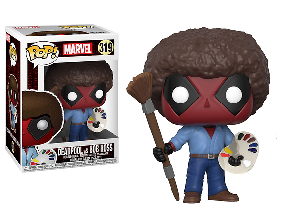 Dead Pool as Bob Ross Funko Pop