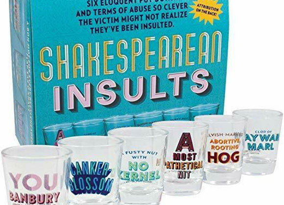 Shakespeare Insult Shot Glasses