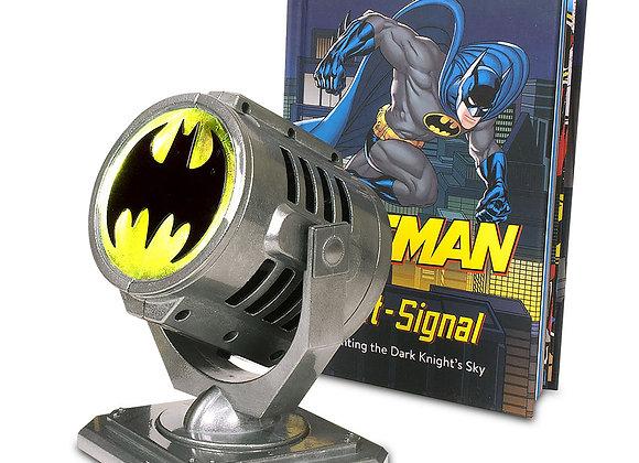 Batman: Metal Die-Cast Bat-Signal & Book