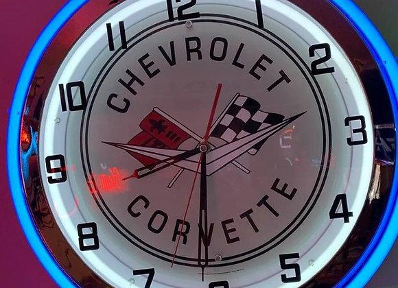 Neon Corvetter Clock