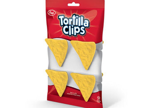 Roll over image to zoom in         Fred Tortilla Chip Bag Closure Clips, Set o
