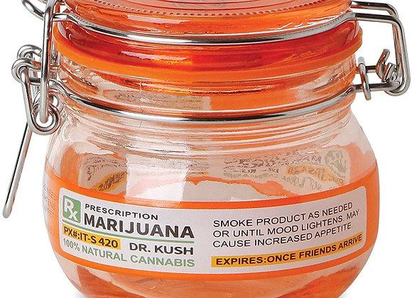 Stash Jar (1) Rx Marijuana ~ Mason Jar