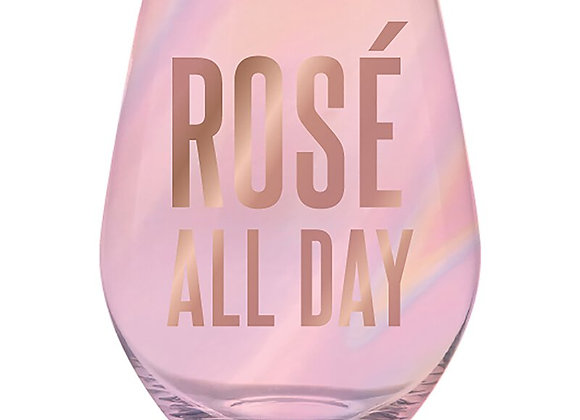 Rose' all Day Wine Glass