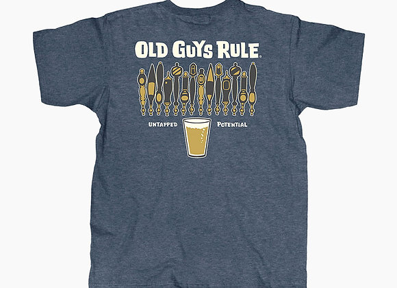 L Old Guys Rule Beer Tapper T Shirt