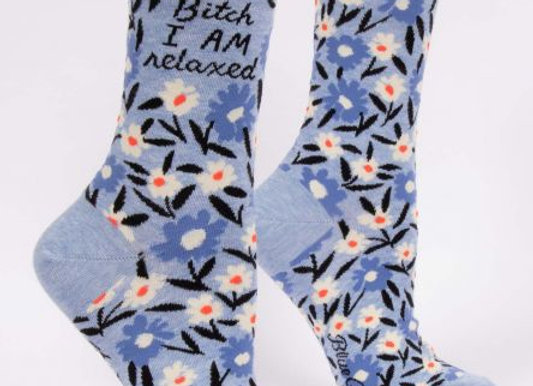 Womens Bitch I AM Relaxed W-Crew Socks