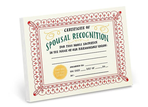 Spousal Achievement Notepad