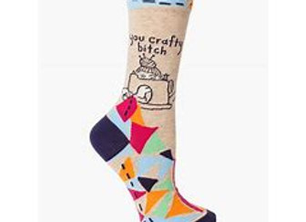 Womens You Crafty Bitch Crew Socks