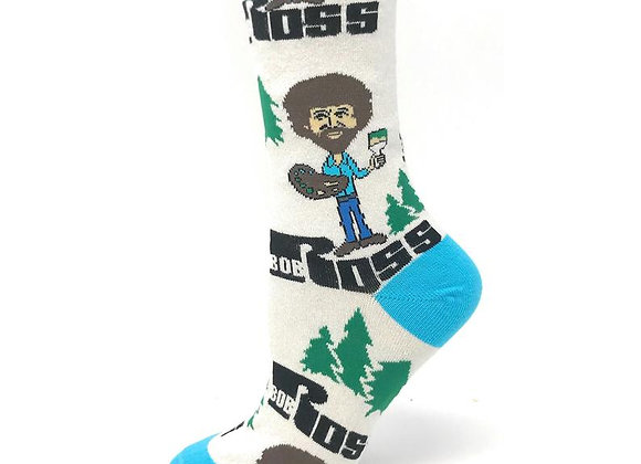 Mens Bob Ross Joy of Painting Socks