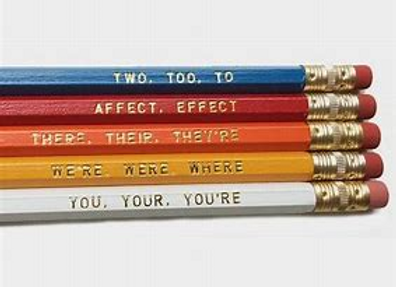 5To, Too, Two & Grammar Pencils