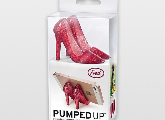 Red Sparkle Pumped Up Phone Stand