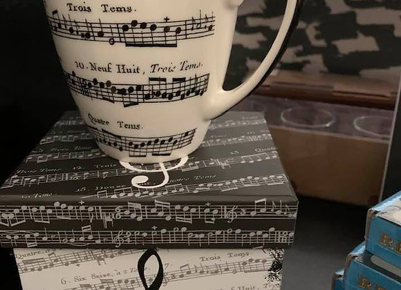 Musical Note Mug with box