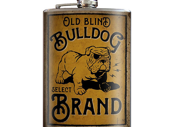 Blind Bulldog - Stainless Steel Flask - comes in a GIFT BOX - by Tri