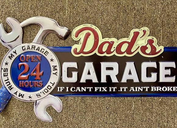 Dad Garage Tin Sign