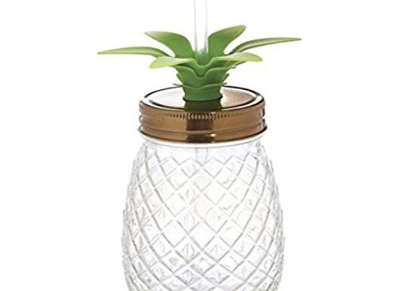 Iridescent Pineapple Mason Jar Tumbler
