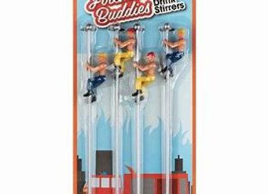 Fireman Buddies Drink Stirrers